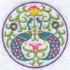 Медальон с павлинами-2
