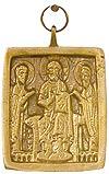 Православный нательный образок: Деисус