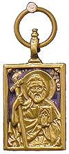 Православный нательный образок: Св. апостол Андрей