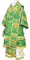 Архиерейское облачение из парчи ПГ4 (зелёный/золото)