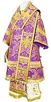 Архиерейское облачение из парчи ПГ4 (фиолетовый/золото)