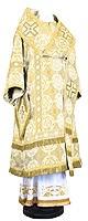 Архиерейское облачение из шёлка Ш3 (белый/золото)