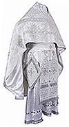Иерейское русское облачение из парчи ПГ2 (белый/серебро)