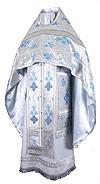 Иерейское русское облачение из парчи ПГ5 (белый/серебро)