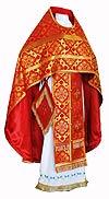 Иерейское русское облачение из шёлка Ш2 (красный/золото)