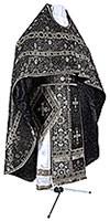 Иерейское русское облачение из шёлка Ш4 (чёрный/серебро)