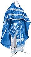 Иерейское русское облачение из кит. шёлка ШК (синий/серебро)