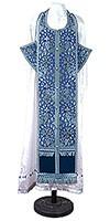 Требный комплект из парчи ПГ1 (синий/серебро)
