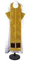 Требный комплект из парчи ПГ1 (жёлтый/золото)