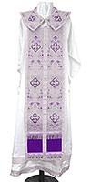 Требный комплект из парчи ПГ2 (фиолетовый/серебро)
