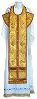 Требный комплект из парчи ПГ3 (жёлтый-бордо/золото)