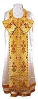 Требный комплект из парчи ПГ5 (жёлтый-бордо/золото)