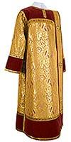 Дьяконское облачение из парчи ПГ3 (жёлтый/золото)