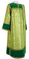 Дьяконское облачение из парчи ПГ3 (зелёный/золото)