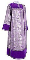 Дьяконское облачение из парчи ПГ3 (фиолетовый/серебро)