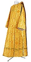 Дьяконское облачение из шёлка Ш2 (жёлтый-бордо/золото)