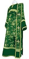 Дьяконское облачение из кит. шёлка ШК (зелёный/золото)