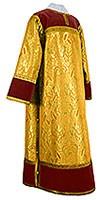 Стихарь клирика из парчи ПГ6 (жёлтый-бордо/золото)