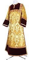 Стихарь клирика из парчи ПГ3 (жёлтый-бордо/золото)