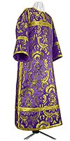 Стихарь клирика из парчи ПГ3 (фиолетовый/золото)