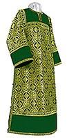 Стихарь клирика из шёлка Ш3 (зелёный/золото)