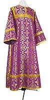 Стихарь клирика из шёлка Ш3 (фиолетовый/золото)