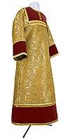 Стихарь алтарника из парчи ПГ1 (жёлтый-бордо/золото)