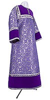 Стихарь алтарника из парчи ПГ1 (фиолетовый/серебро)