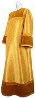 Стихарь детский из парчи ПГ2 (жёлтый-бордо/золото)
