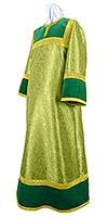 Стихарь алтарника из парчи ПГ5 (зелёный/золото)