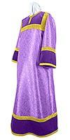 Стихарь алтарника из парчи ПГ6 (фиолетовый/золото)