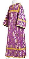 Стихарь алтарника из парчи ПГ2 (фиолетовый/золото)