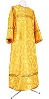 Стихарь алтарника из шёлка Ш3 (жёлтый/золото)