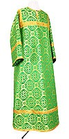 Стихарь алтарника из шёлка Ш3 (зелёный/золото)