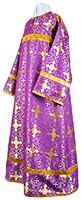 Стихарь алтарника из шёлка Ш3 (фиолетовый/золото)
