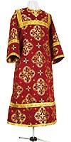 Стихарь детский из шёлка Ш3 (бордовый/золото)