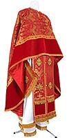 Греческое иерейское облачение из парчи П (красный/золото)