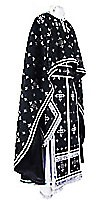 Греческое иерейское облачение из парчи ПГ1 (чёрный/серебро)