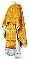 Греческое иерейское облачение из парчи ПГ2 (жёлтый/золото)