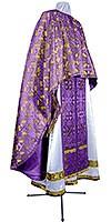 Греческое иерейское облачение из парчи ПГ3 (фиолетовый/золото)