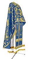 Греческое иерейское облачение из парчи ПГ5 (синий/золото)