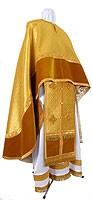 Греческое иерейское облачение из парчи ПГ4 (жёлтый-бордо/золото)