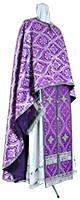 Греческое иерейское облачение из шёлка Ш2 (фиолетовый/серебро)