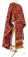 Греческое иерейское облачение из шёлка Ш3 (бордовый/золото)