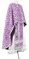 Греческое иерейское облачение из шёлка Ш3 (фиолетовый/серебро)