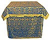 Облачение на престол из парчи ПГ4 (синий/золото)