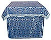 Облачение на престол из парчи ПГ1 (синий/серебро)