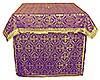Облачение на престол из парчи ПГ5 (фиолетовый/золото)