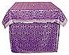 Облачение на престол из парчи ПГ4 (фиолетовый/серебро)