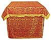 Облачение на престол из парчи ПГ3 (красный/золото)